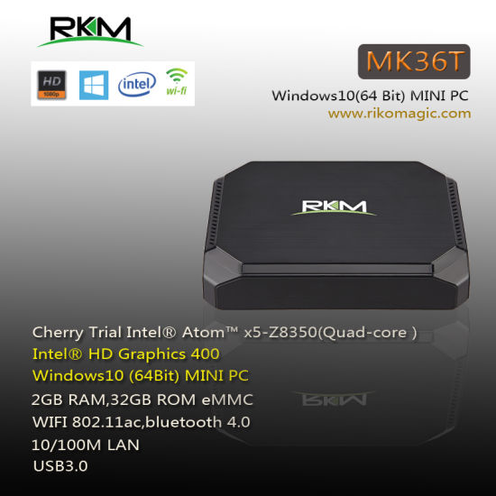 Intel Cherry Trail Z8350 Windows Mini PC MK36t 2g RAM 32g ROM WiFi AC Ethernet