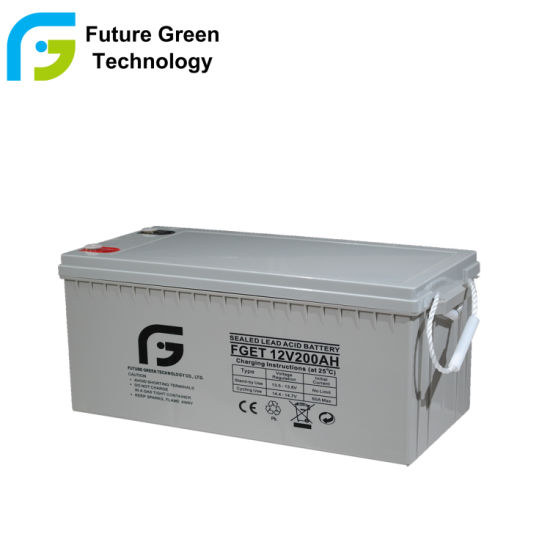 12V 200ah Deep Cycle Maintenance Free AGM Solar Battery