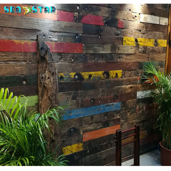 China Waterproof Old Style Reclaimed Wood Flooring For Restaurant Decoration China Flooring Wood Flooring