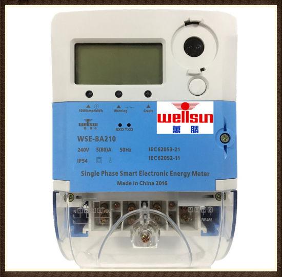Single Phase Smart IC Card Prepaid Energy Meter