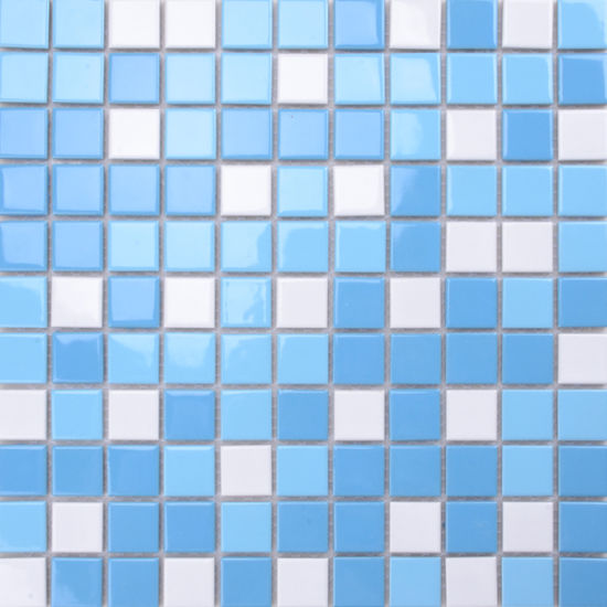 48X48mm Chip Size Hot Sale Swimming Pool Tile Blue Ceramic Mosaic