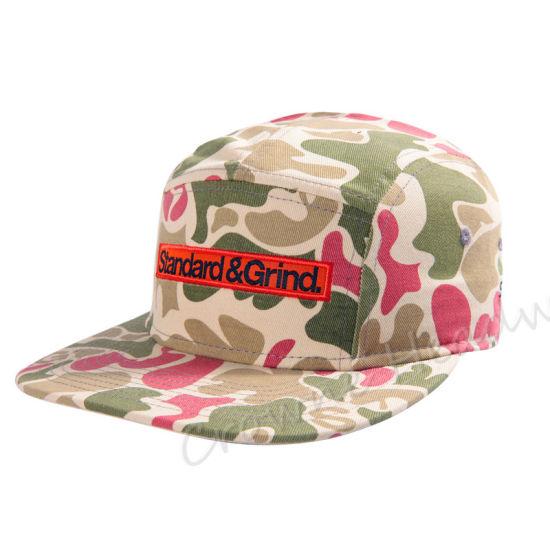 China Camouflage Print Cap Snapback Camper Flat Brim Custom Summer ... 24b1d6f5a67