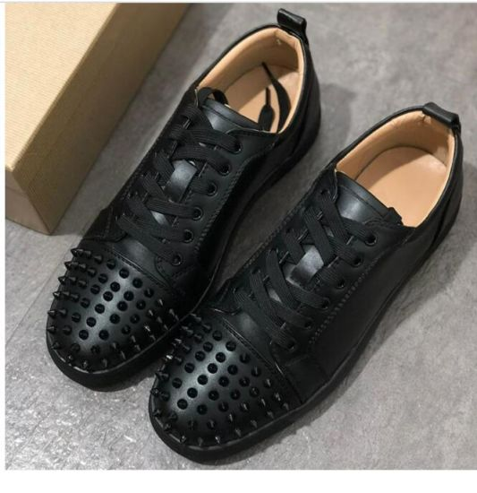 Low Cut Blue Suede Spike Shoes Men and Women Shoes