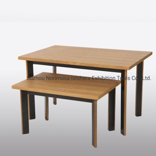 2 Tiers Wooden Display Table for Retailers