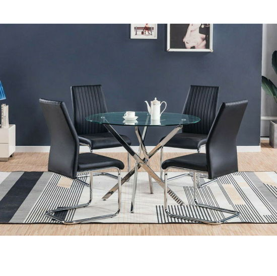 4 Seater China Home Furniture Dining Furniture Manufacturer Glass Modern Dining Table