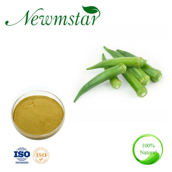 Natural Abelmoschus Esculentus Extract, Okra Extract Powder for Nutrition Supplement/ Low Blood Pressure