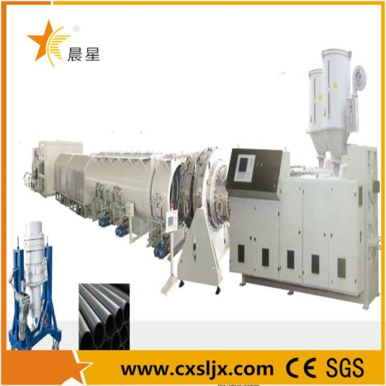 PE HDPE LDPE PPR Plastic Water Gas Oil Supply Pipe Tube Extrusion Production Line Single Screw Extruder Pipe Making Machine