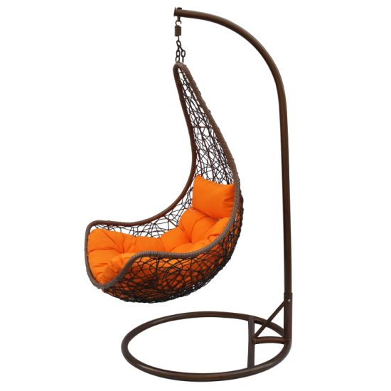 Good Quality Moon Hanging Chair Outdoor Rattan Swing Hanging Chair Patio