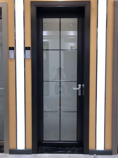 Modern Aluminum Toilet Door Bathroom Door Design with Frosted Glass