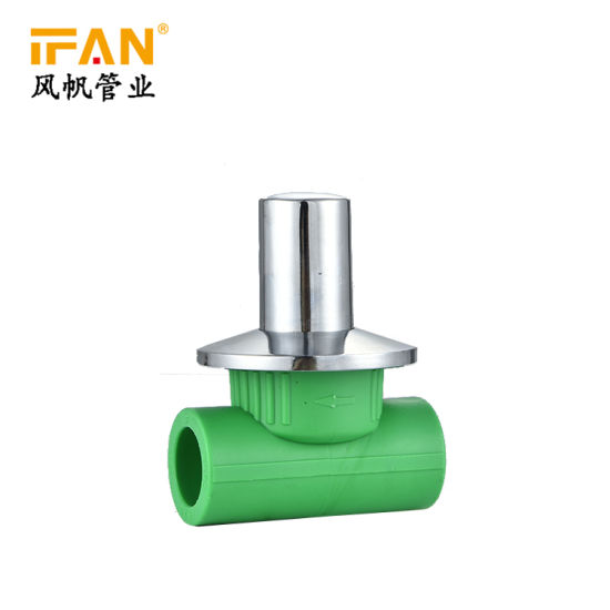 Ifan New Design Wholesale PPR Fittings Brass 2 Way American Concealed Valve Brass Stop Valve