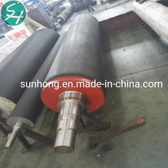Hard Blind Drilled Rubber Press Roll for Paper Machine