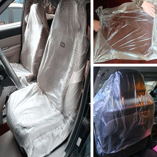 Waterproof Safety Protection Disposable Plastic Clear Car Seat Covers