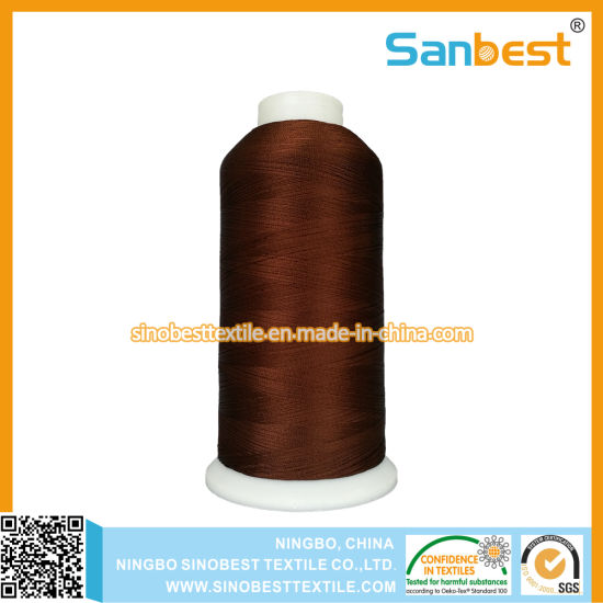 Trilobal Polyester Embroidery Thread with High Tenacity 120d/2