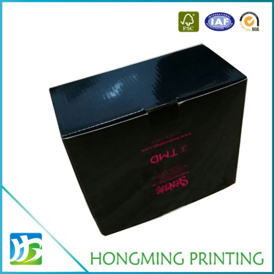 Black Glossy Cardboard Box with Front Window pictures & photos