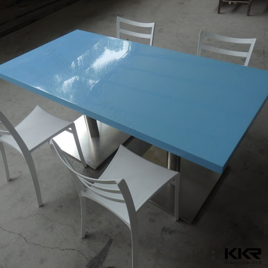 China Modern Design Acrylic Solid Surface Marble Top Dining