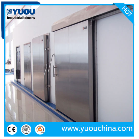 Automatic Stainless Steel Cold Storage Freezer Room Sliding Door for Food and Drug Factory pictures & photos