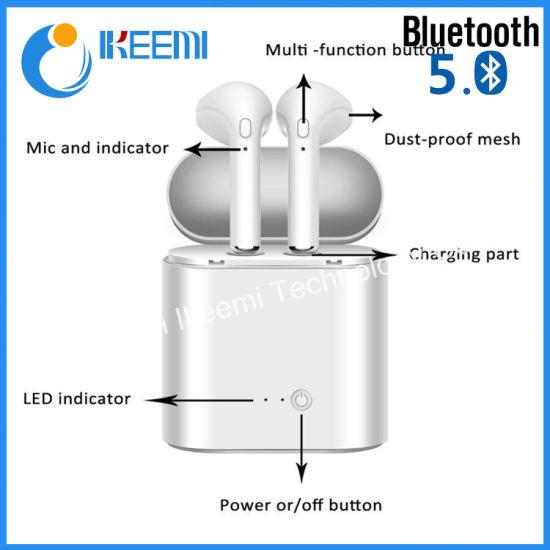 China I7s Tws 5 0 Wireless Bluetooth Headphone I7s with Charging Box