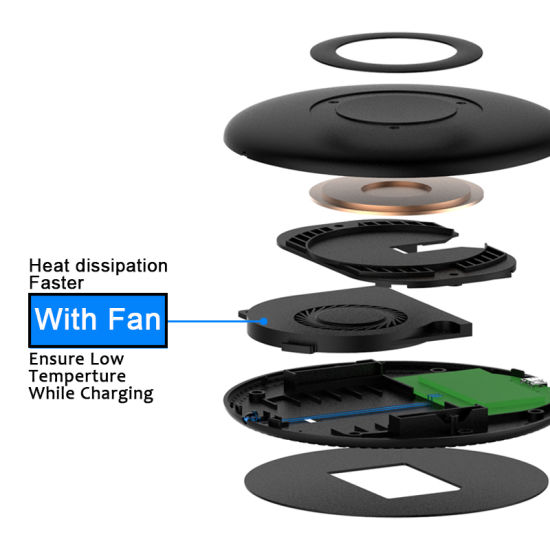 Newest Amazon Hot Samsung S8 Standard Wireless Fast Charger F8 pictures & photos