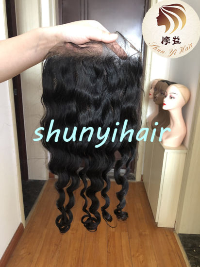 China Vendors 100% Virgin Hair Bundles with 2*6 4*4 5*5 6*6 7*7 Closure, Natural Hairline Swiss Lace Brazilian Hair Loose Body Wave Lace Closure