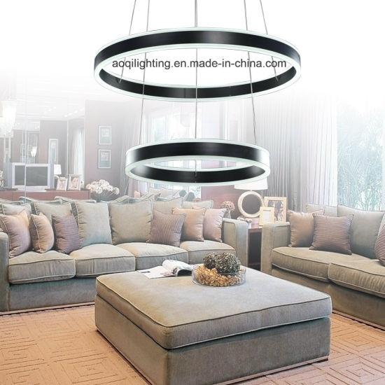 China Two Rings Black LED Acrylic Modern Pendant Light (AQ