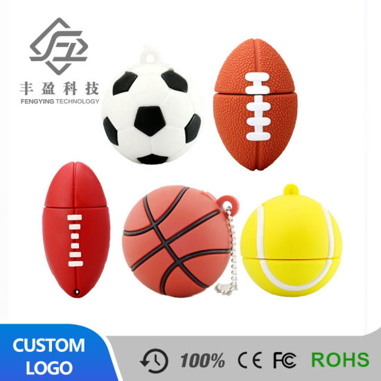Pendrive Football USB Stick 8GB 16GB 32GB 64GB Cartoon Basketball Flash Drive USB 2.0 Flash Memory Disk Pen Drive 128GB