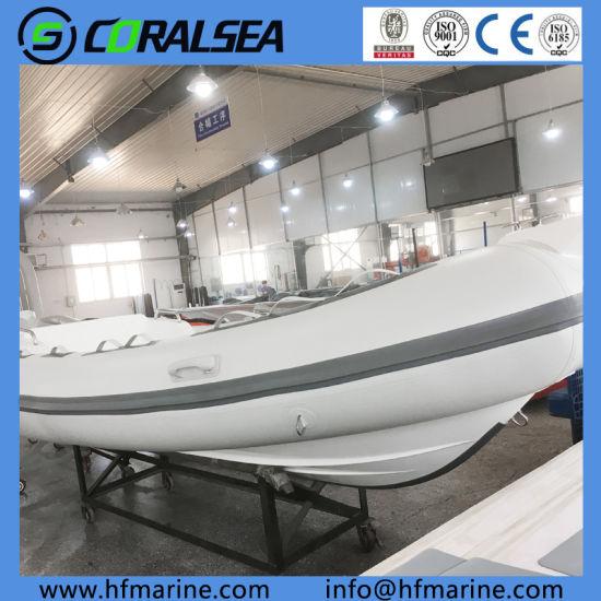 China 17FT PVC/Hypalon Fishing Rigid FRP Inflatable Boat