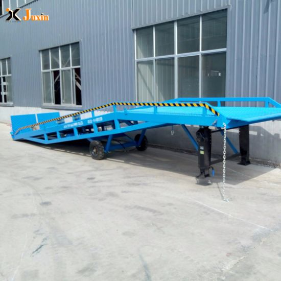Perfect Performance Portable Forklift Mobile Steel Container Loading Dock Ramps