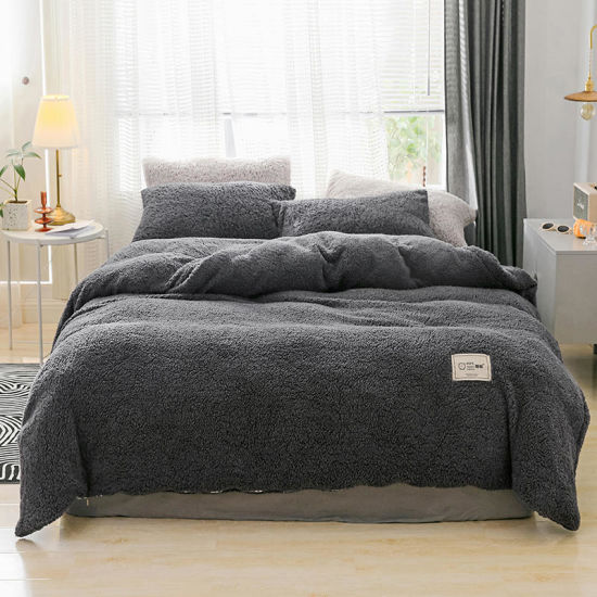 New Teddy Bear Fleece Duvet Cover With Pillow Case Or Fitted Sheet Cozy Warm Set