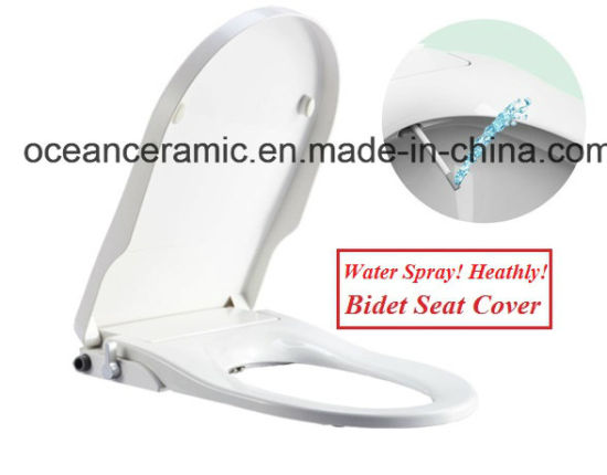 Ts-1002 Elongated Toilet Seat, Non-Electronic Bidet Seat Cover for American V-Shape Toilet pictures & photos
