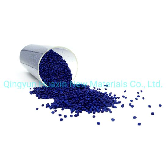 LDPE Carrier Blue Color Masterbatch for Blown Film Injection Extrusion Granulation
