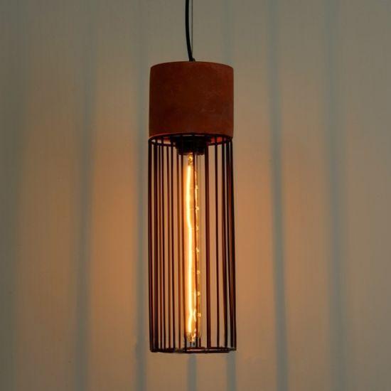 Industrial Lighting Fixtures Vintage Throughout Vintage Antique Industrial Cement Cage Pendant Lamp Concrete Lighting Fixtures China