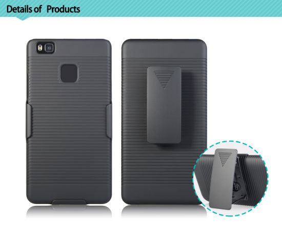 Mesh Hole Wholesale Shockproof Holster Combo Case for Huawei P9 Lite Mobile Phone Cover with Belt Clip