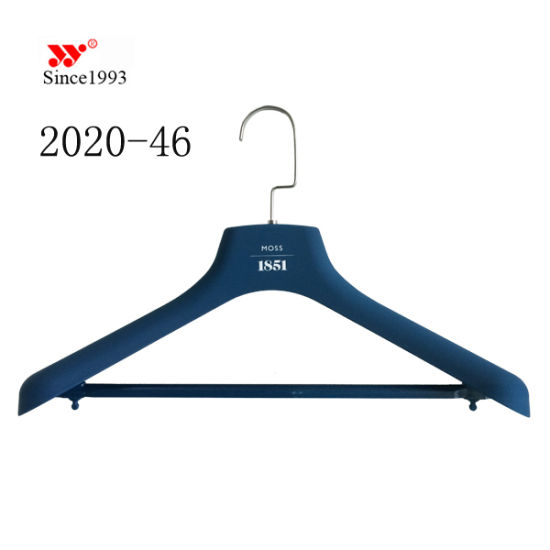 Wholesale Custom ABS Men Fashion Display Rubberized Suit Hangers pictures & photos