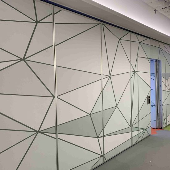 Vinyl Finish High Acoustic Sliding Parititon Wall for Office