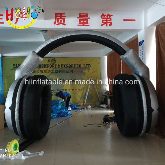 Party Event Decoration Earphone Shape Inflatable Arch