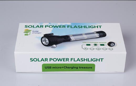 Wholesale Mini Metal Solar Manufacturer Light Solar LED Torch Flashlight pictures & photos