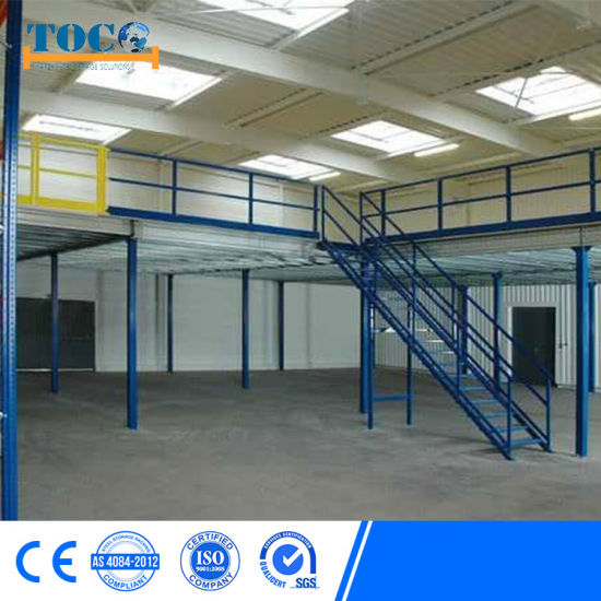 China Mezzanine Shelf Structure Factory Price for Paper Rolls