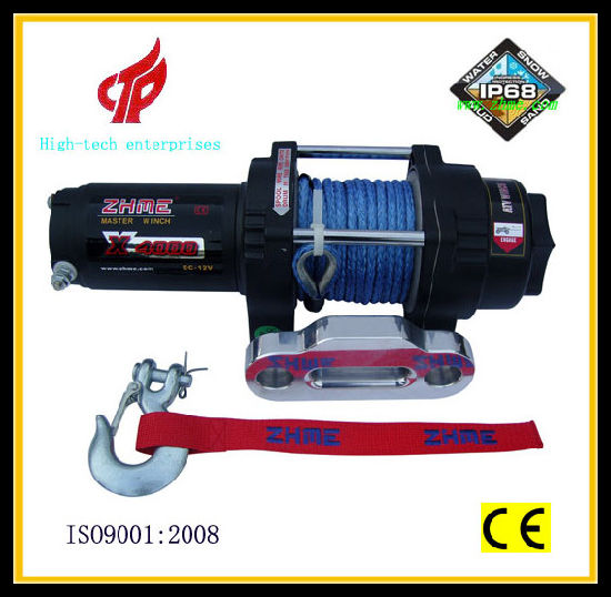 4000lbs UTV Winch with Synthetic Rope