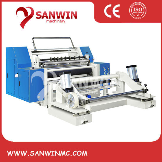 Fully Automatic Aluminum KN95 Mask Non Woven Fabric Plastic Film PE BOPP CPP Pet Paper Roll to Roll Slitting and Rewinding Machine Slitting Machine