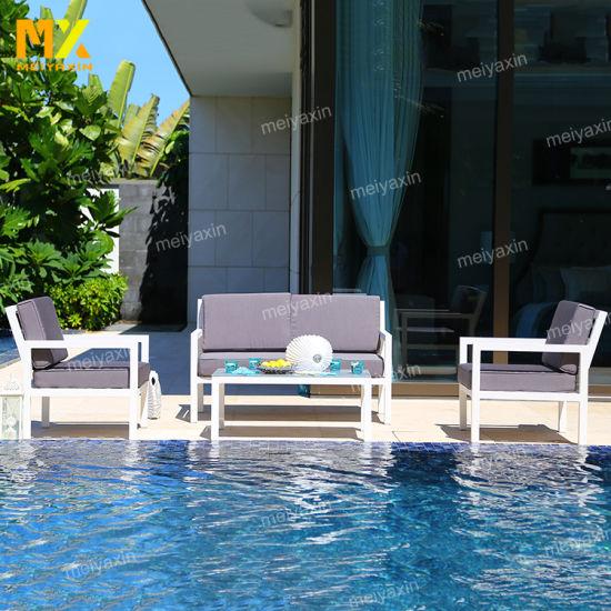 Outdoor Hotel Lobby Modern Design Waterproof Sofa Set