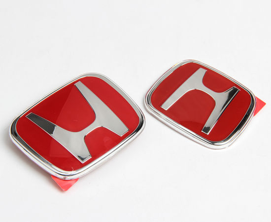 Red Emblem Jdm Type R For Acura Honda Civic Integra Accord Rsx Badge - Red acura emblem