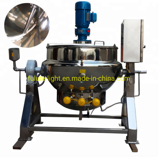 Stainless Steel Oil Jacketed Cooking Kettle with Mixer
