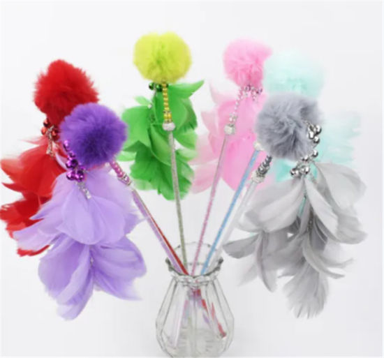 2020 Pet Toy Cat Teaser Wand with Colorful