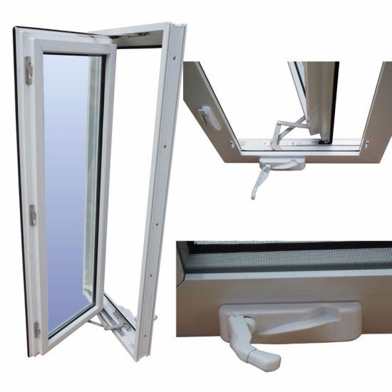 PVC Vinyl Storm Proof Laminated Glass Hand Crank Windows