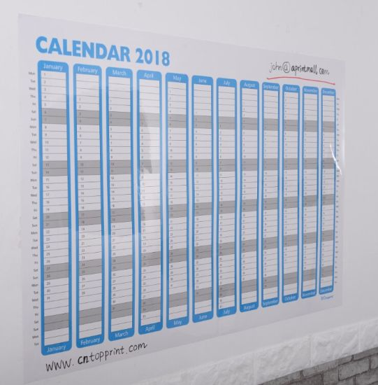 china 2018 blank 12 month jumbo wall planner china calendar dry