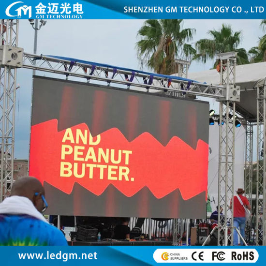 Outdoor High Refresh Stage Rental LED Display Screen P3.9/P4.8/P5.95/P6.25 (500*500mm/500*1000mm Quick Installation Rental Panel)