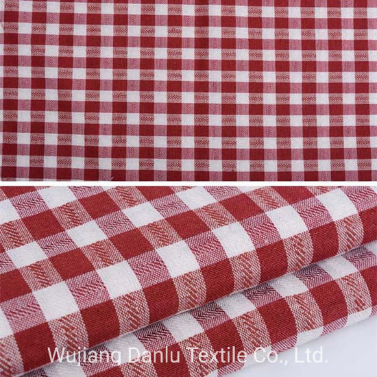 Polyester Cotton 70/30 Fabric Plaid Tc Shirting Fabric pictures & photos