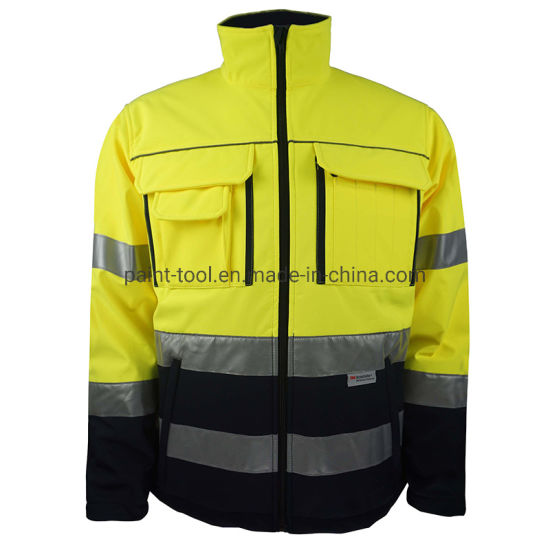 Wear-Resistant Waterproof Reflective Uniform Work Jacket for Construction and Factory Worker