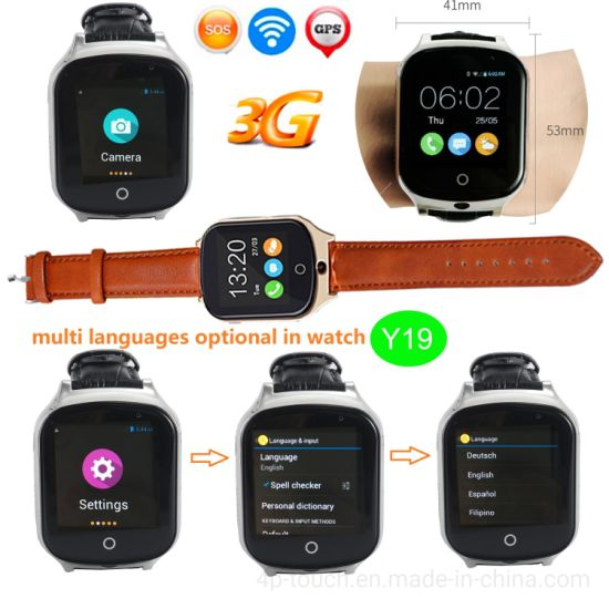 3G WCDMA Adult GPS Tracker Watch with Camera Y19 pictures & photos