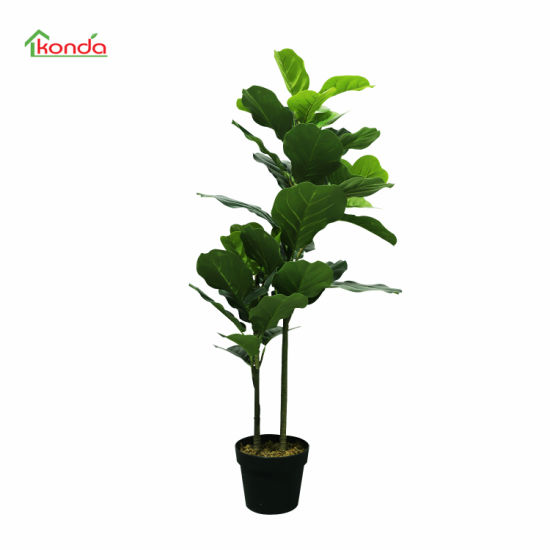 Artificial Fiddle Leaf Tree Plant Potted Faux Greenery Decoration